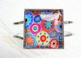 2 Love it RetroCirkel A - Armband - scharniersysteem - Multicolor