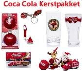 Coca Cola Kerstpakket | Kersttruck + Pluche Kersthangers + Winkelwagenmunt + Sleutelhanger Kerstmuts + Kerstballen + 2x Kerst Glas | ideaal voor de verzamelaar!