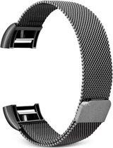 Fitbit Charge 2 Luxe Milanees bandje |Zwart / Black| Premium kwaliteit | Maat: M/L | RVS |TrendParts