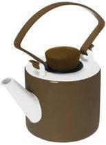 Qdo Cylinder Theepot - 1 l - Porselein - Bruin