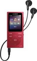 Sony NW-E394 Walkman - MP3 speler - 8GB - Rood