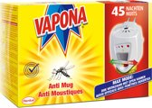 Vapona Anti Mug stekker open ramen 45 nachten