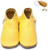 Inch Blue babyslofjes Gripz Moccasin yellow