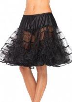 Lange zwarte petticoat voor dames