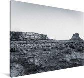 Zwart-wit foto van het Nationaal park Chaco Canvas 90x60 cm - Foto print op Canvas schilderij (Wanddecoratie woonkamer / slaapkamer)