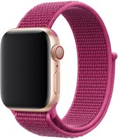 Shop4 - Apple Watch 3/2/1 42mm Bandje - Medium Nylon Donker Roze