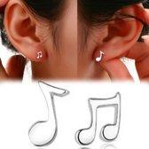 Oorbellen met muzieknoot
