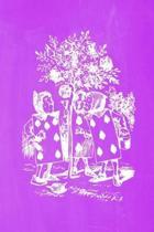 Alice in Wonderland Pastel Chalkboard Journal - Painting the Roses Red (Purple)