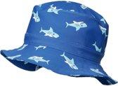 Playshoes - UV-zonnehoed voor jongens - blauw met haaien