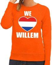 Oranje We love Willem sweater dames XS