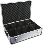 CD koffer - DJ case voor 128 CDs inclusief CD doosje (zilver).