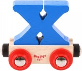 Bigjigs - Rails - Naamtrein - Letter X - Geel