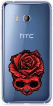 HTC U11 Hoesje Red Skull