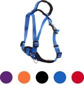 Pets&Partner® - Hondentuig - Hondenharnas van nylon - voor kleine en grote honden - M - Blauw