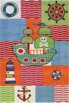 Basic Collection Kindervloerkleed Rhapsody Piraat 200x290 - Oranje/Multicolor