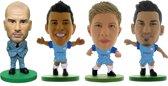 Soccerstarz voetbalpoppetjes Manchester City 4-pack Pep Guardiola ⚽ Sergio Aguëro ⚽ Kevin De Bruyn ⚽ Ilkay Gündogan