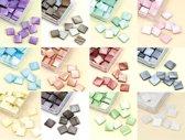 Mozaiek Steentjes Set - 12 Kleuren - 10x10mm