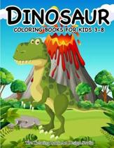 Dinosaur Coloring Books for Kids 3-8 (Dinosaur Coloring Book Gift)