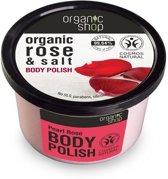 Organic Shop Body Polish Pearl Rose 250ml.