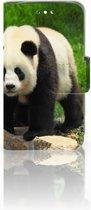 Huawei Y360 Uniek Boekhoesje Panda Met Opbergvakjes