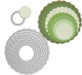 Sizzix Framelits Die Set Geschulpte Cirkels, 8 stuks