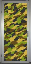 Deurposter 'Camouflage' - deursticker 75x195 cm