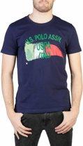 Heren T-shirt van U.S. Polo - blauw