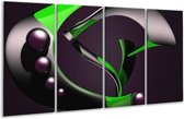 Glasschilderij Modern | Groen, Grijs, Zwart | 160x80cm 4Luik | Foto print op Glas |  F004310