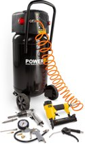 Powerplus POWX1751 Compressor - 8 bar - 50 liter tankinhoud - incl. 11 accessoires