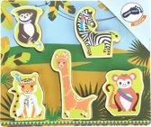 Houten puzzel jungle