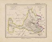 Historische kaart, plattegrond van gemeente Sittard in Limburg uit 1867 door Kuyper van Kaartcadeau.com