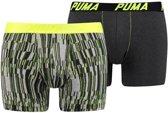 Puma - Heren 2-Pack Boxershorts Geel Grijs - XL