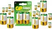 100 Stuks (50 blisters a 2stk) - GP Super Alkaline LR20/D batterij