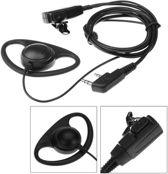 D-Shape Portofoon headset voor Kenwood en Baofeng