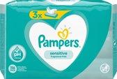 Pampers Billendoekjes Sensitive - zonder parfum - 156 doekjes (3x52)