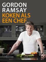 Gordon ramsay koken als een chef