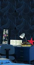 Dutch Wallcoverings Vliesbehang retro - petrol
