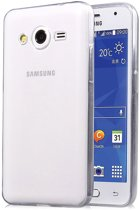 Samsung Galaxy Core 2 Ultra thin 0.3mm Gel silicone transparant Case hoesje