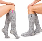 Soxs Man & Vrouw Giftbox Wollen Sokken 2-Pack SOX3181 - Grijs - Unisex - Maten 37-41 & 42-46