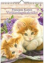 Verjaardagskalender Franciens katten - Bloemen (18x25)