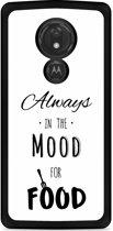 Motorola Moto G7 Power Hardcase hoesje Mood for Food Black