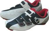 Fietsschoenen - Unisex - Wit/Rood/Zwart - Maat 37