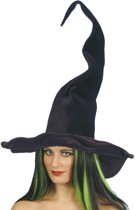 Grote zwarte heksenhoed voor dames - Verkleedhoofddeksel