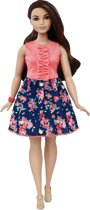 Barbie Fashionistas Peach Top met Gebloemde Rok - 26 - Barbiepop