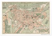 Aandemuur Poster Plattegrond van Amsterdam (1894)