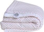 Baby deken wit met rode sterretjes - teddy