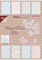 Papierblok Romance, 15 x 30 cm, 24 vel, 2 x 12 designs