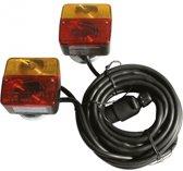 Aanhanger Achterlichtset Magnetisch Met 7-Polige stekker - 7,5m Kabel - Universeel - Achterlichten Aanhanger - Magnetische Montage