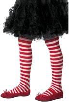 Kinderpanty rood wit gestreept
