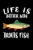 Life Is Better With Trout Fish: Animal Nature Collection